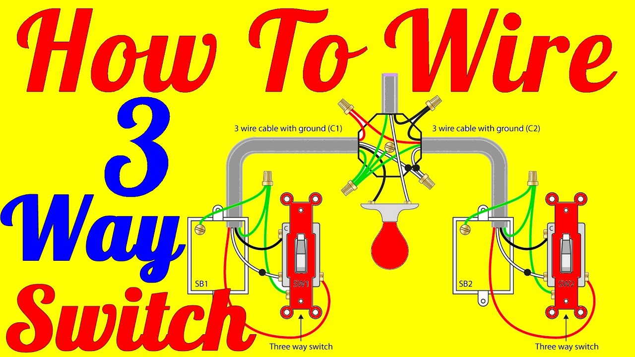 How To Wire 3 Way Switch Wiring Diagrams - Youtube - 3-Way Switch Wiring Diagram