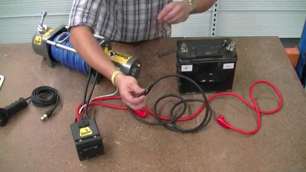 """How To Wire A 12V Winch   Sherpa 4X4 """"the Colt""""   Youtube   12 Volt Winch Solenoid Wiring Diagram"""