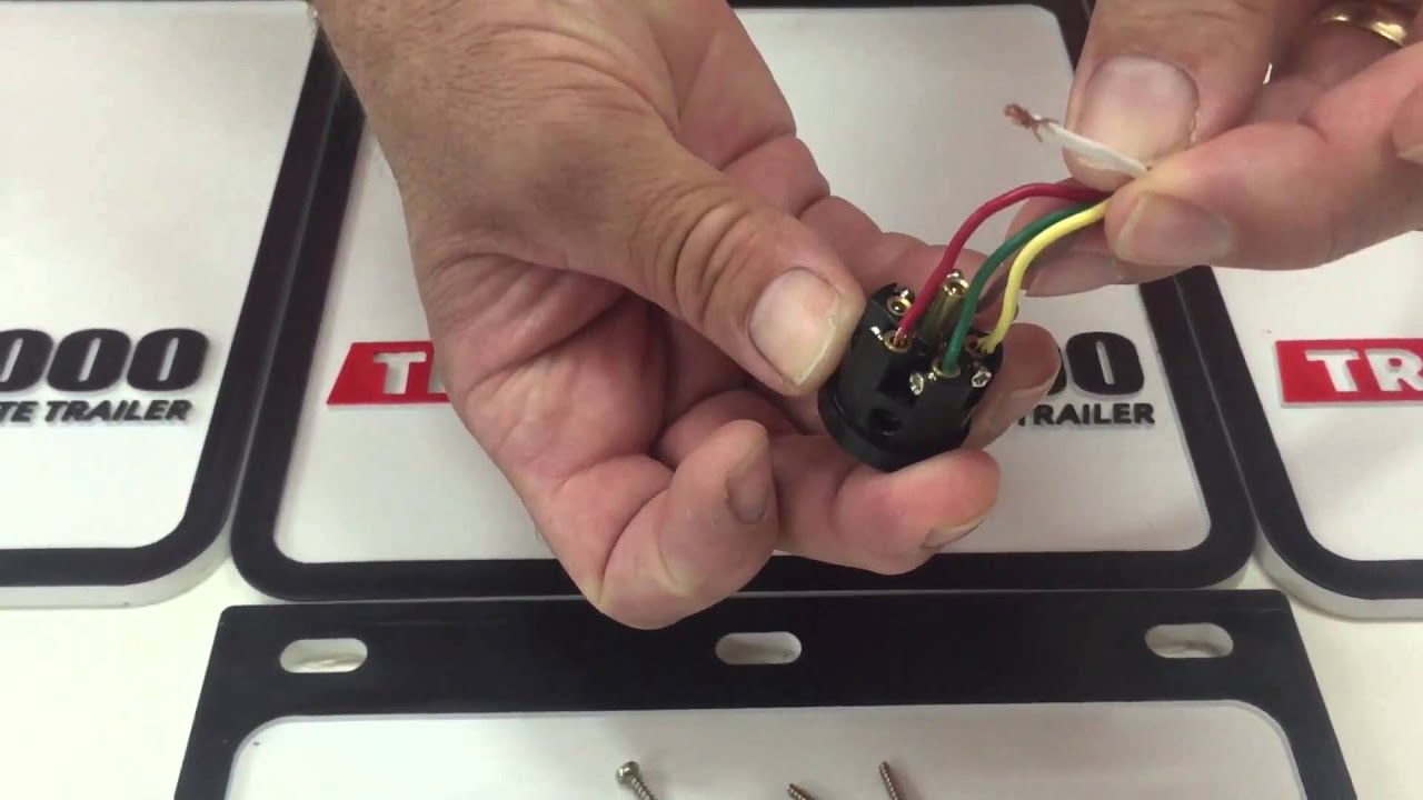 How To Wire A 6 Pin Round Trailer Plug - Youtube - 6 Pin Wiring Diagram