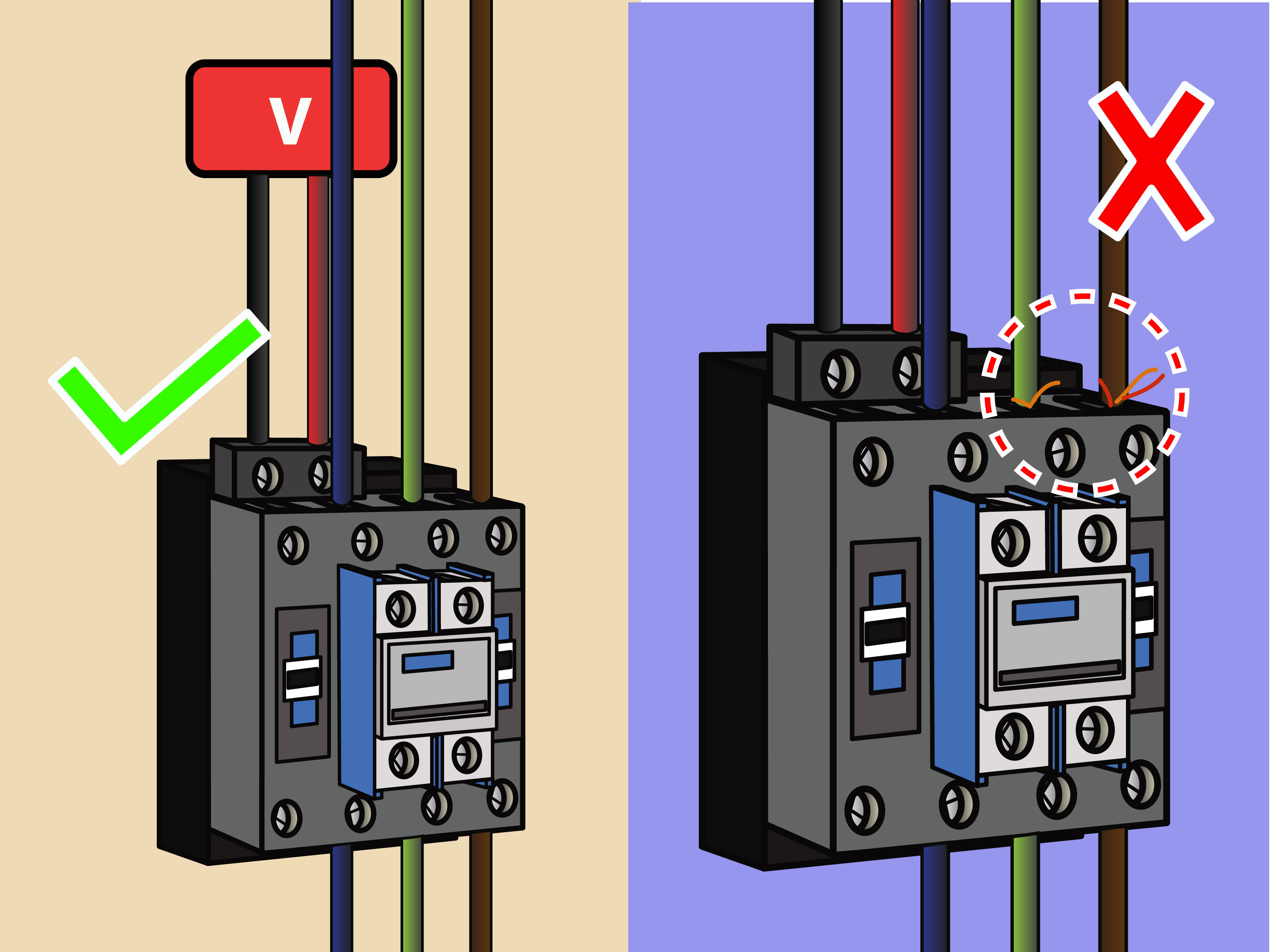 How To Wire A Contactor: 8 Steps (With Pictures) - Wikihow - 240 Volt Contactor Wiring Diagram