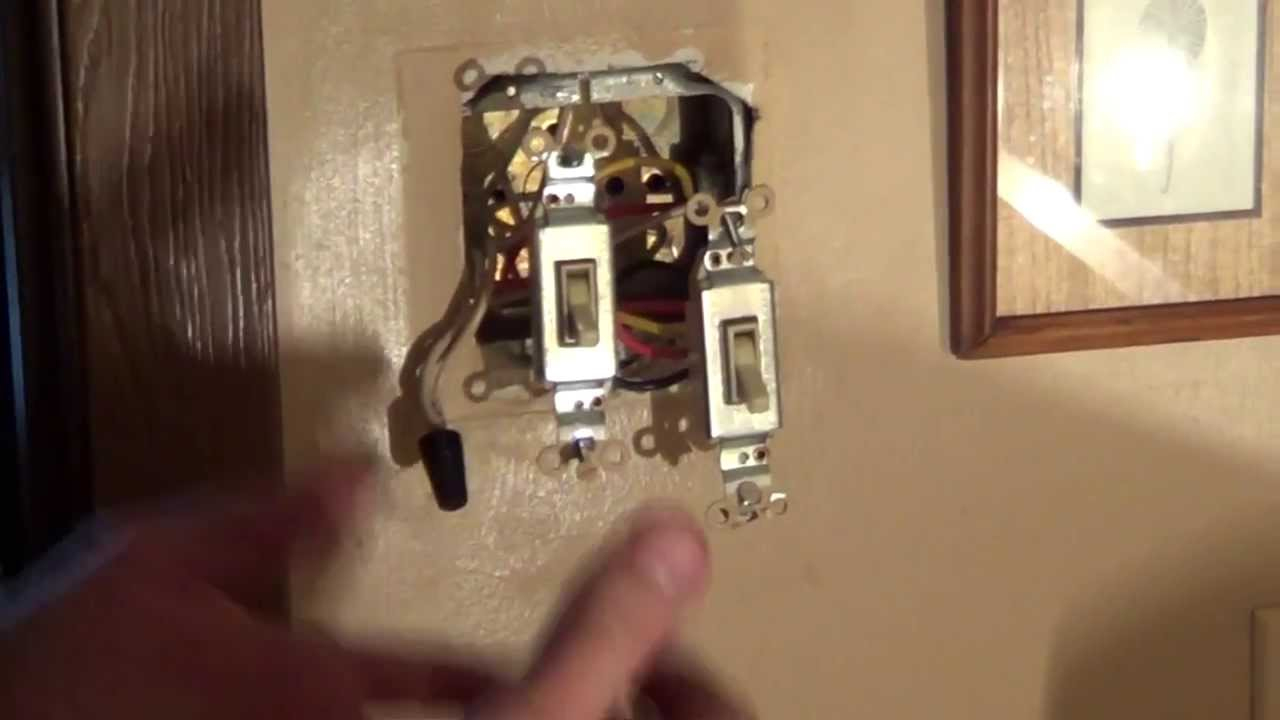 How To Wire A Double Switch - Light Switch Wiring - Conduit - Youtube - Wiring A Light Switch And Outlet Together Diagram