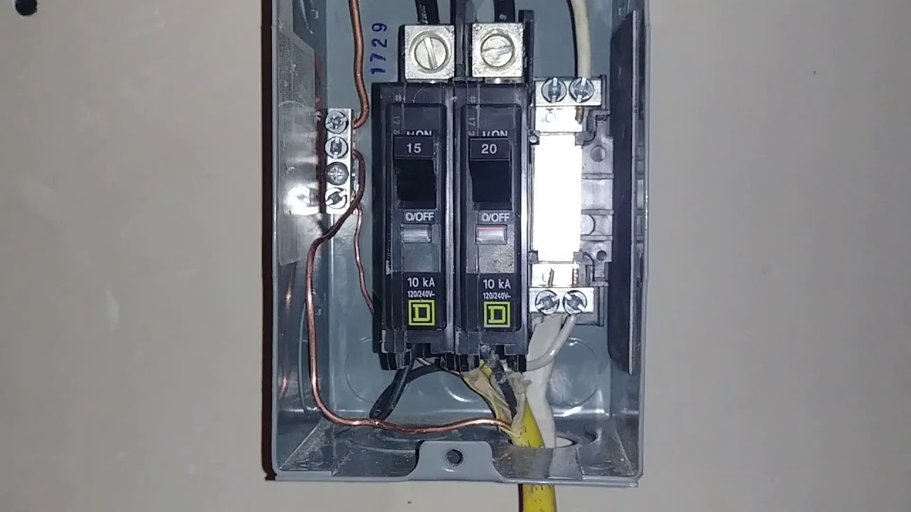 How To Wire A Sub Panel 30 Amp - Youtube - 30 Amp Sub Panel Wiring Diagram