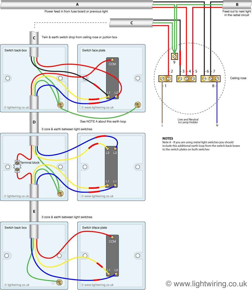 How To Wire A Three Way Switch | Light Wiring - 3 Way Switch Wiring Diagram