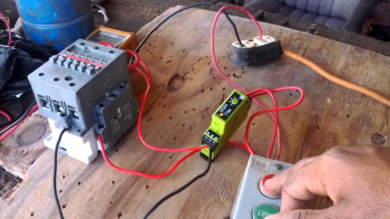 How To Wire A Timer In A Control Circuit. - Youtube - Time Delay Relay Wiring Diagram