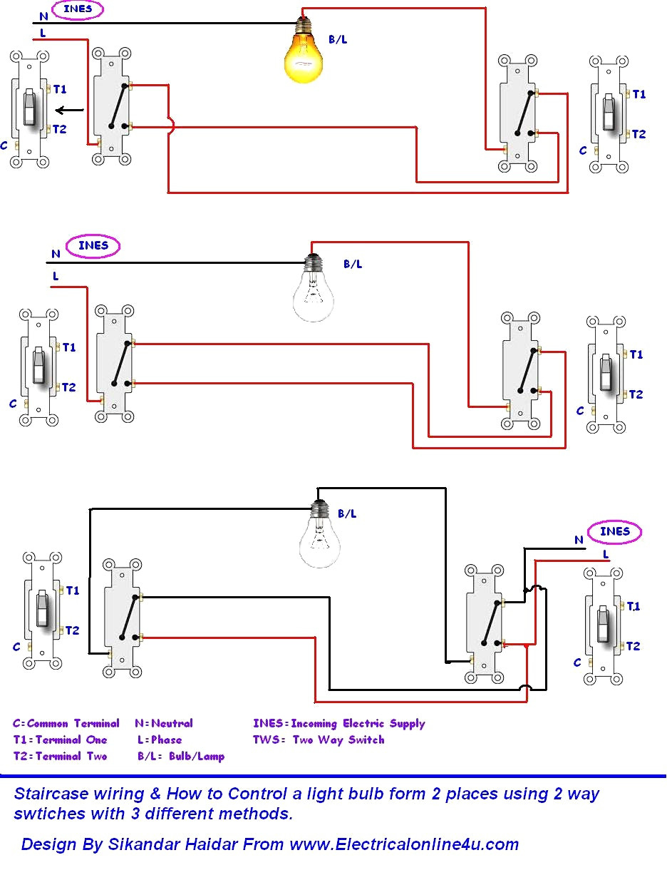 How To Wire A Two Way Switch Diagram | Wiring Library - Wiring Two Lights To One Switch Diagram
