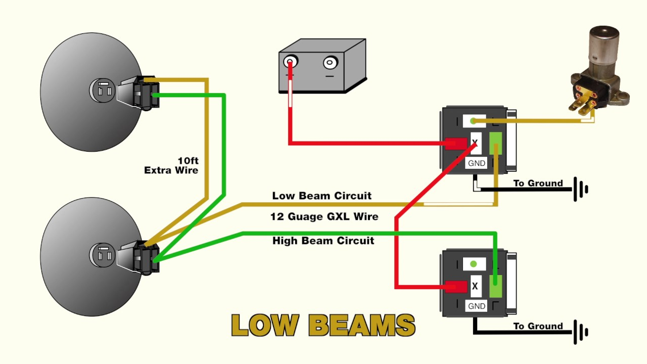 How To Wire Headlight Relays - Youtube - Headlight Relay Wiring Diagram