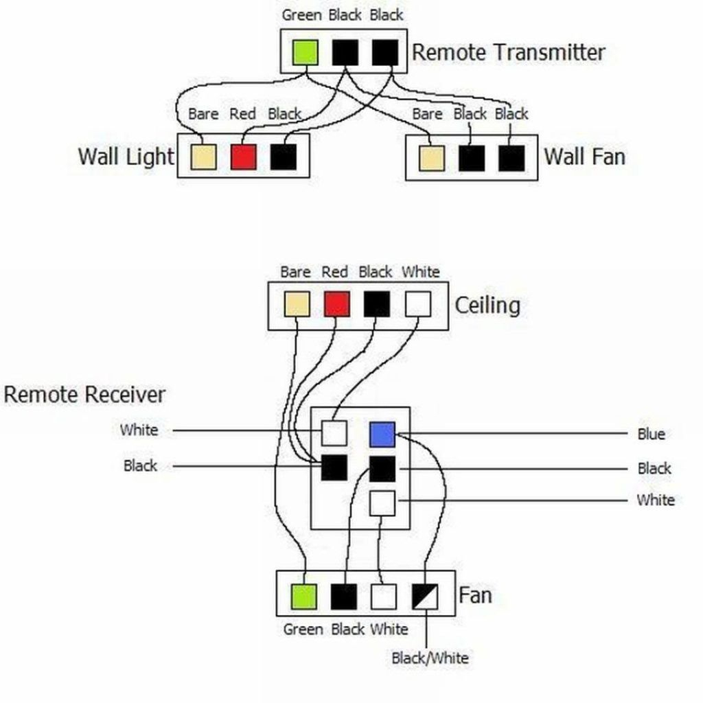 Hunter Ceiling Fan And Light Control Wiring | Fans | Ceiling Fan - Wiring Diagram For Ceiling Fan With Lights