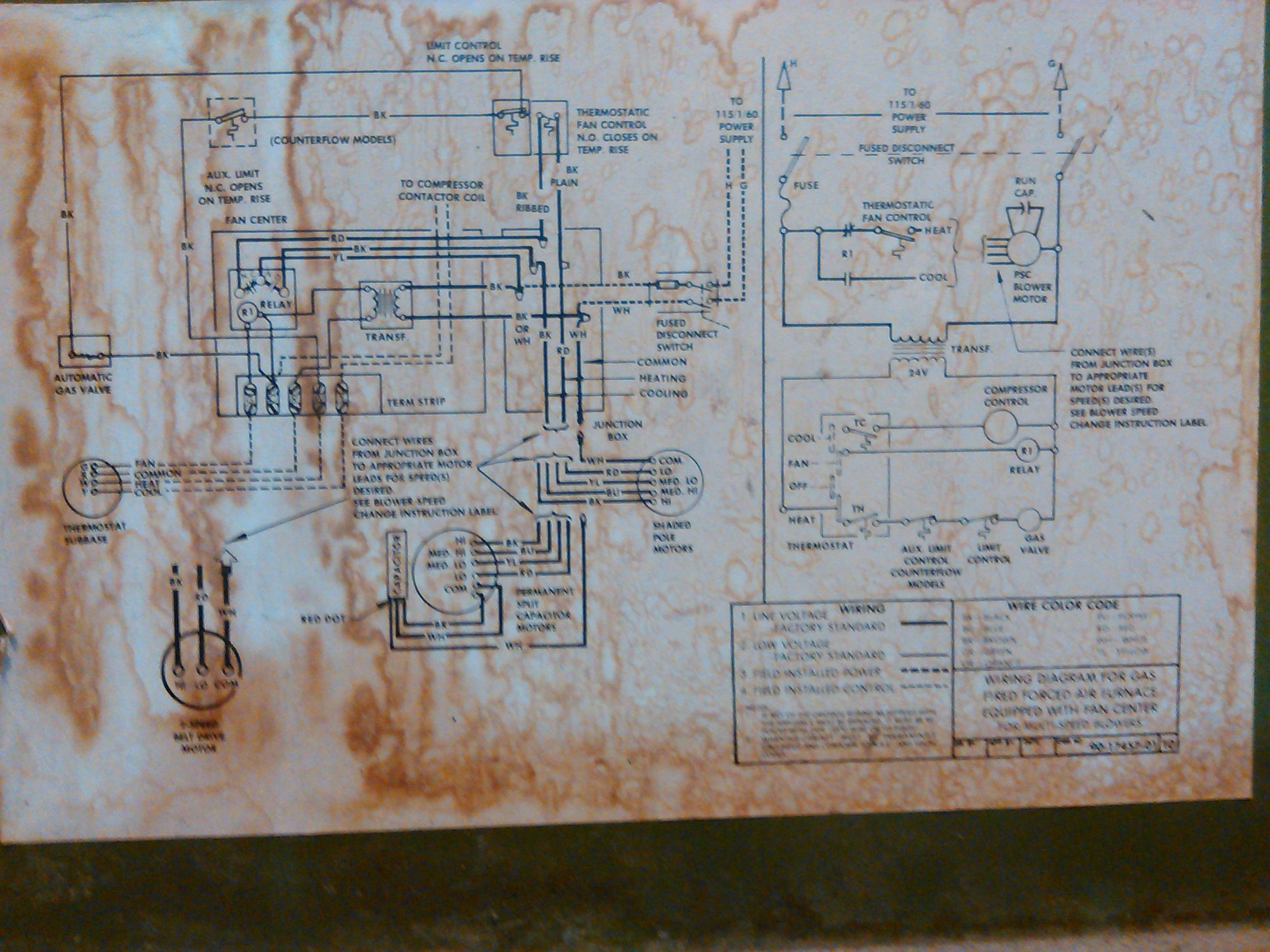 Hvac - Replace Old Furnace Blower Motor With A New One But The Wires - Coleman Electric Furnace Wiring Diagram