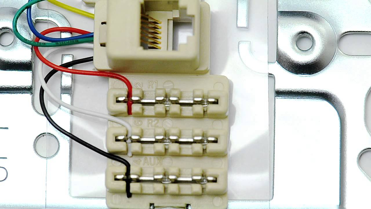 Icc Rj12 6 Conductor Wall Plate - 1 Port - Stainless Steel - Rj45 Wall Socket Wiring Diagram
