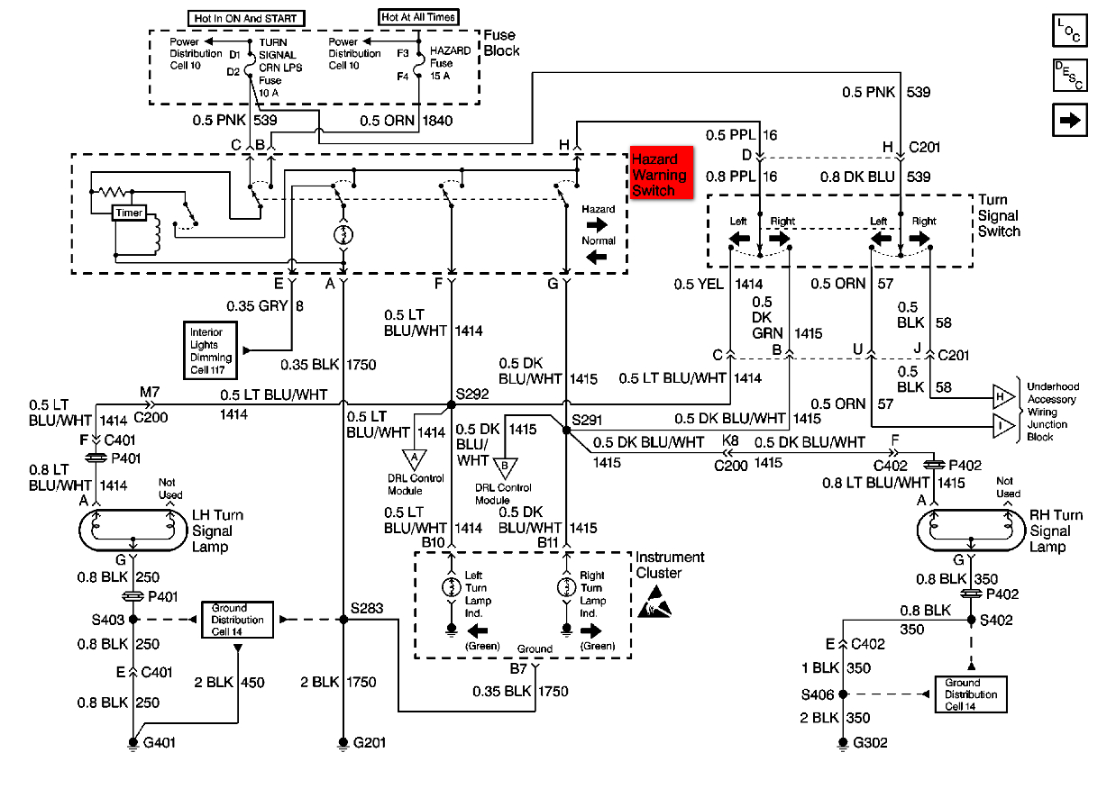 I'm Trying To Change Out The Turn Signal On A 1999 Oldsmobile - Turn Signal Flasher Wiring Diagram