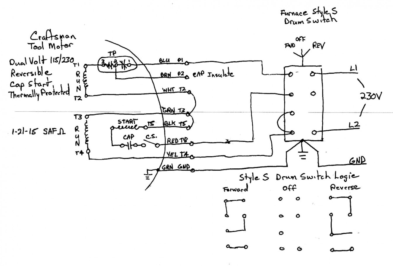 Images Of Single Phase Capacitor Start Motor Wiring Diagram Diagrams - Single Phase Motor Wiring Diagram With Capacitor Start