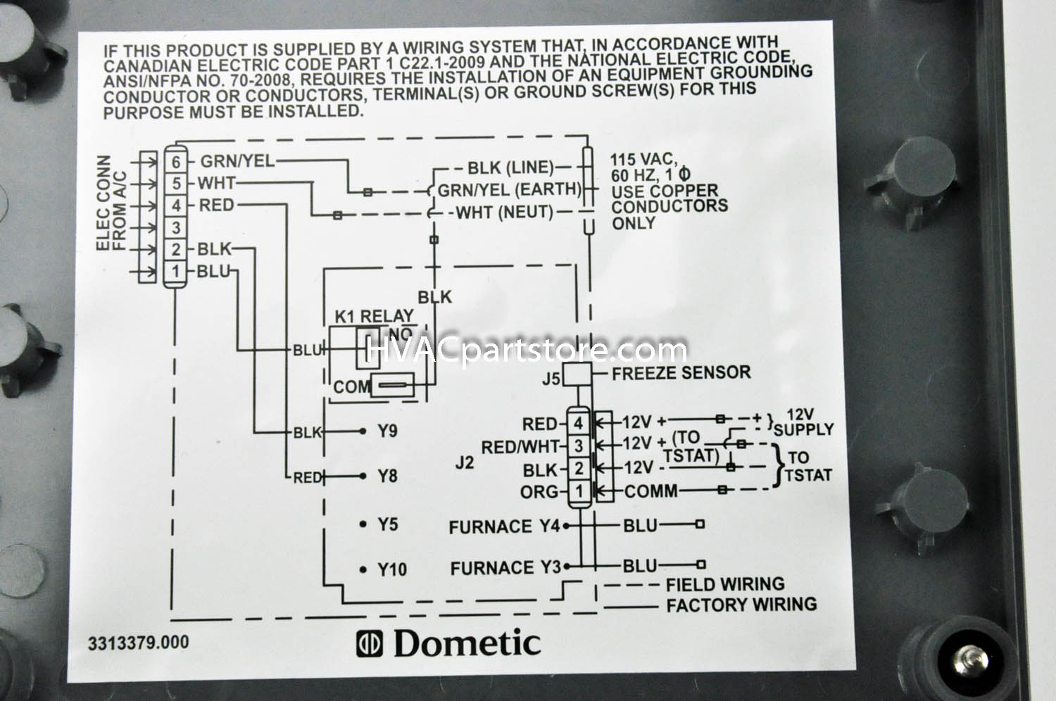 Images Samples Of Duo Therm Thermostat Wiring Diagram In Dometic And - Dometic Thermostat Wiring Diagram