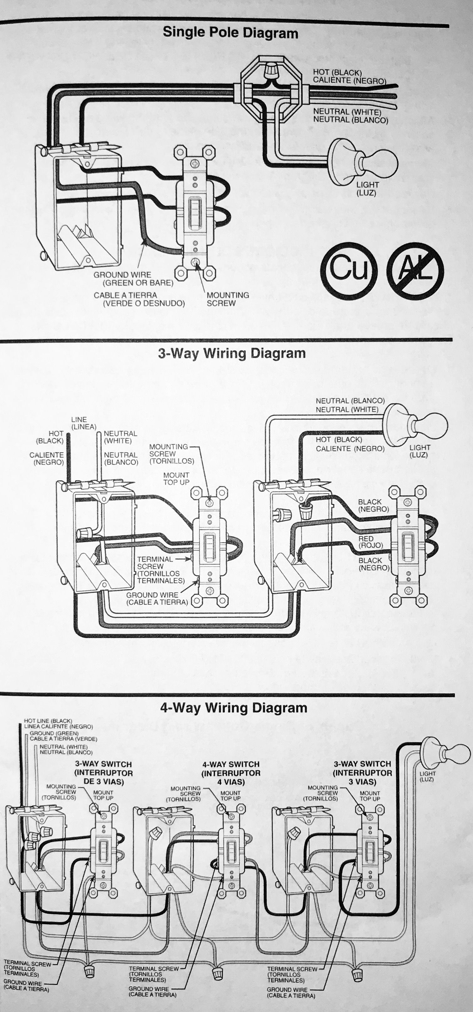 Installation Of Single Pole, 3-Way, & 4-Way Switches - Wiring - 4 Way Wiring Diagram