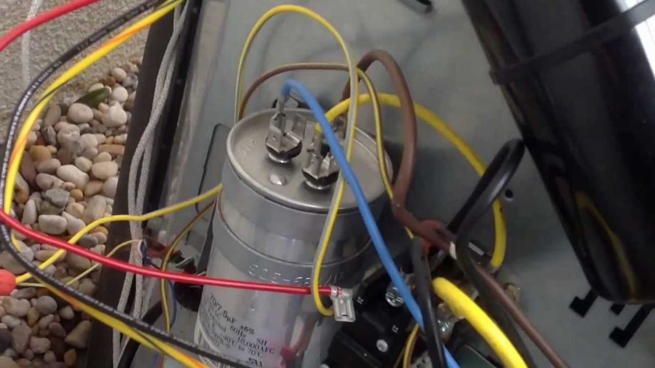 Installing A 5-2-1 Hard Start Capacitor Kit On A Tempstar/carrier - Motor Run Capacitor Wiring Diagram