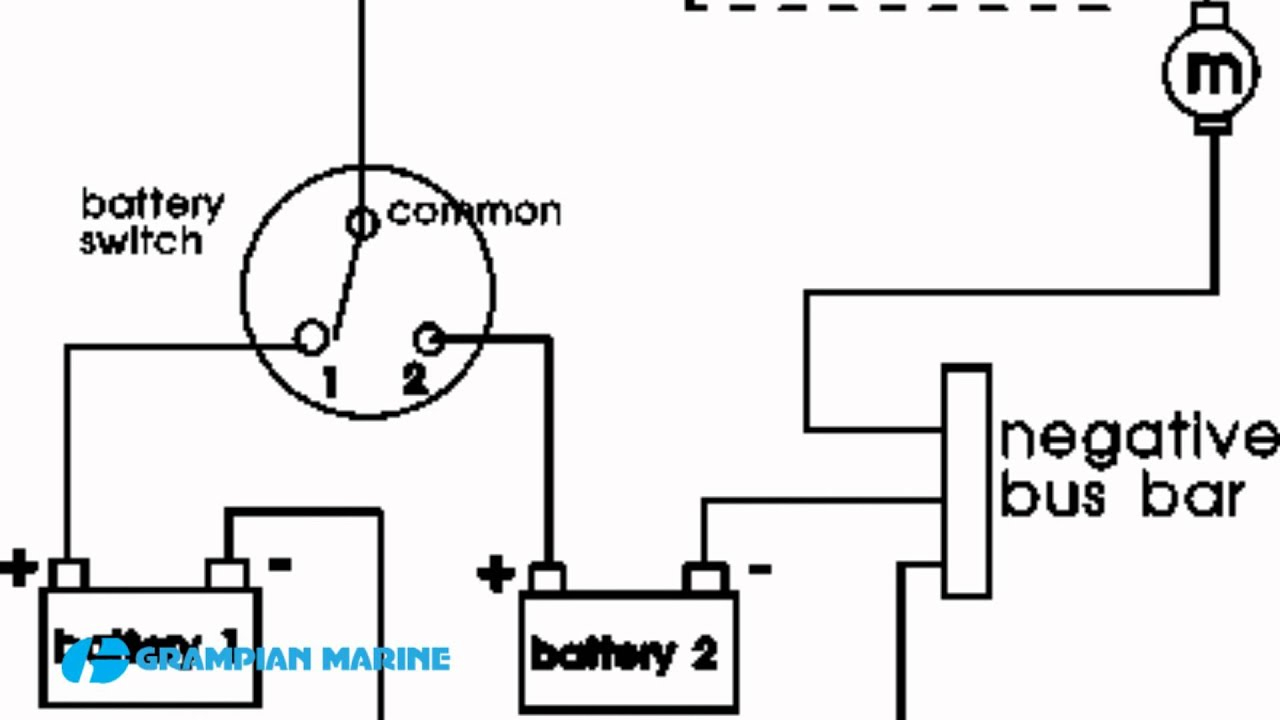 Installing A Second Battery In A Boat - Youtube - Boat Battery Switch Wiring Diagram