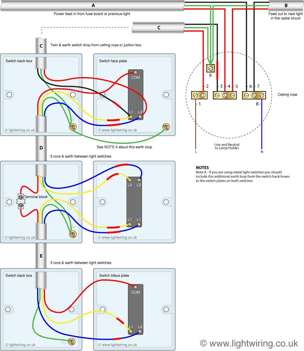 Intermediate Light Switch Wiring   Light Wiring - 4 Way Light Switch Wiring Diagram