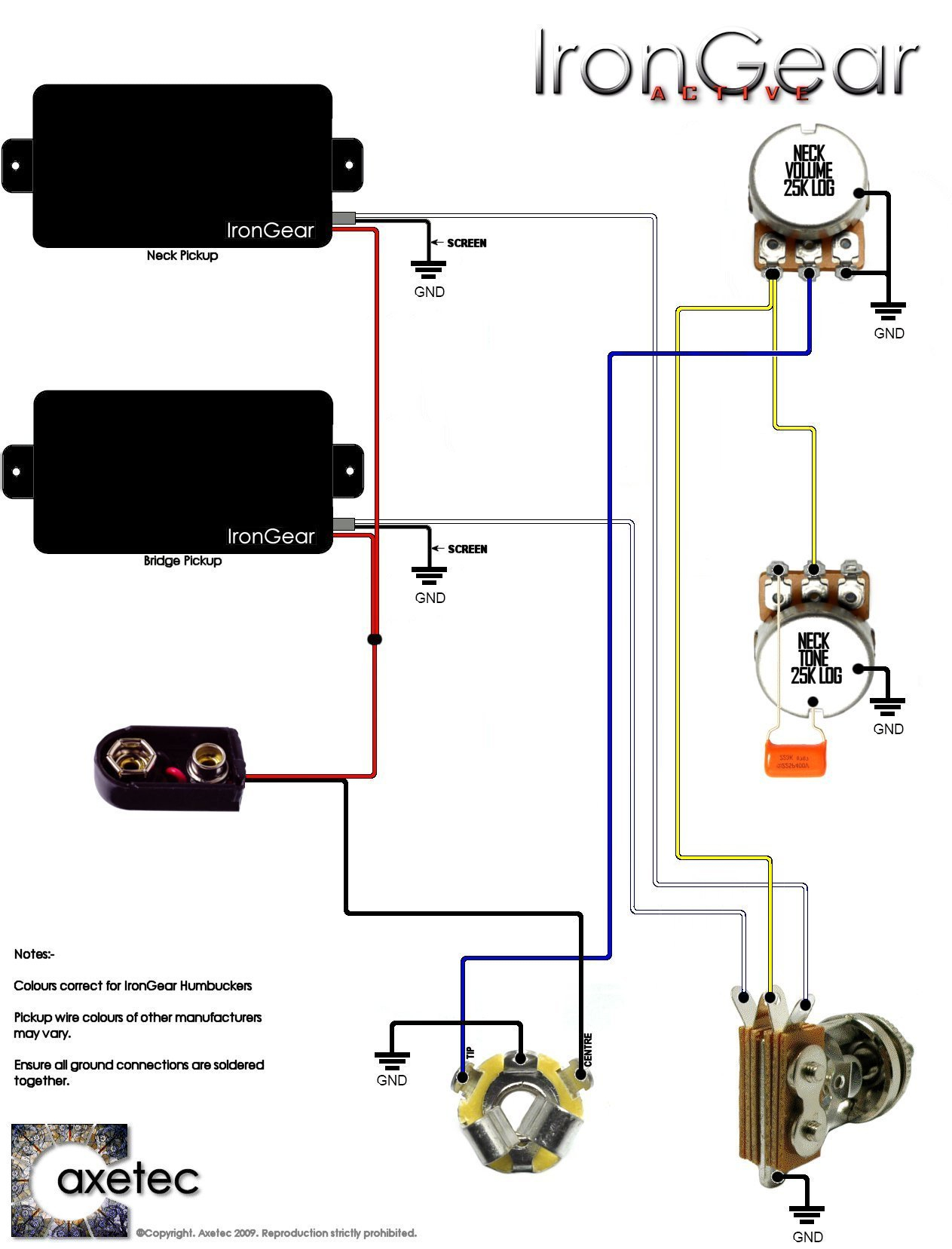 Irongear Pickups - Wiring - Pickup Wiring Diagram