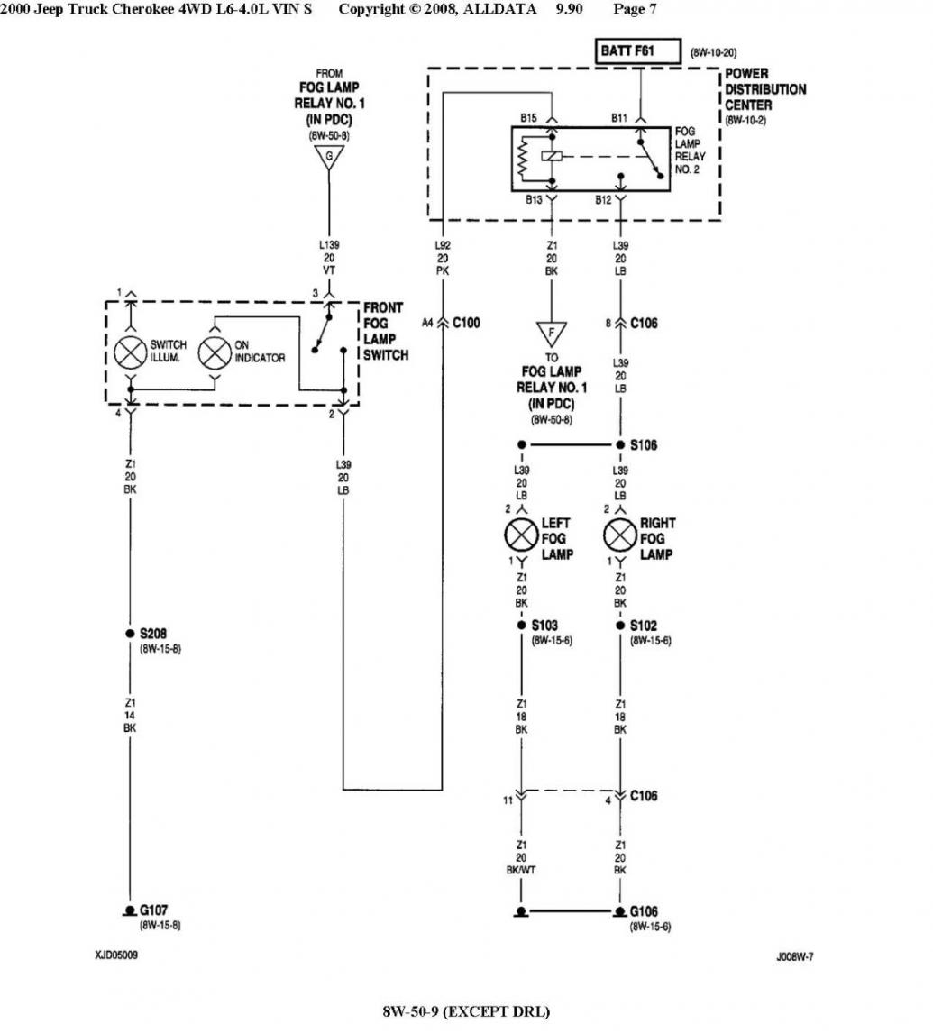 Jeep Fog Light Wiring Diagram - Wiring Diagram Explained - Fog Light Wiring Diagram With Relay