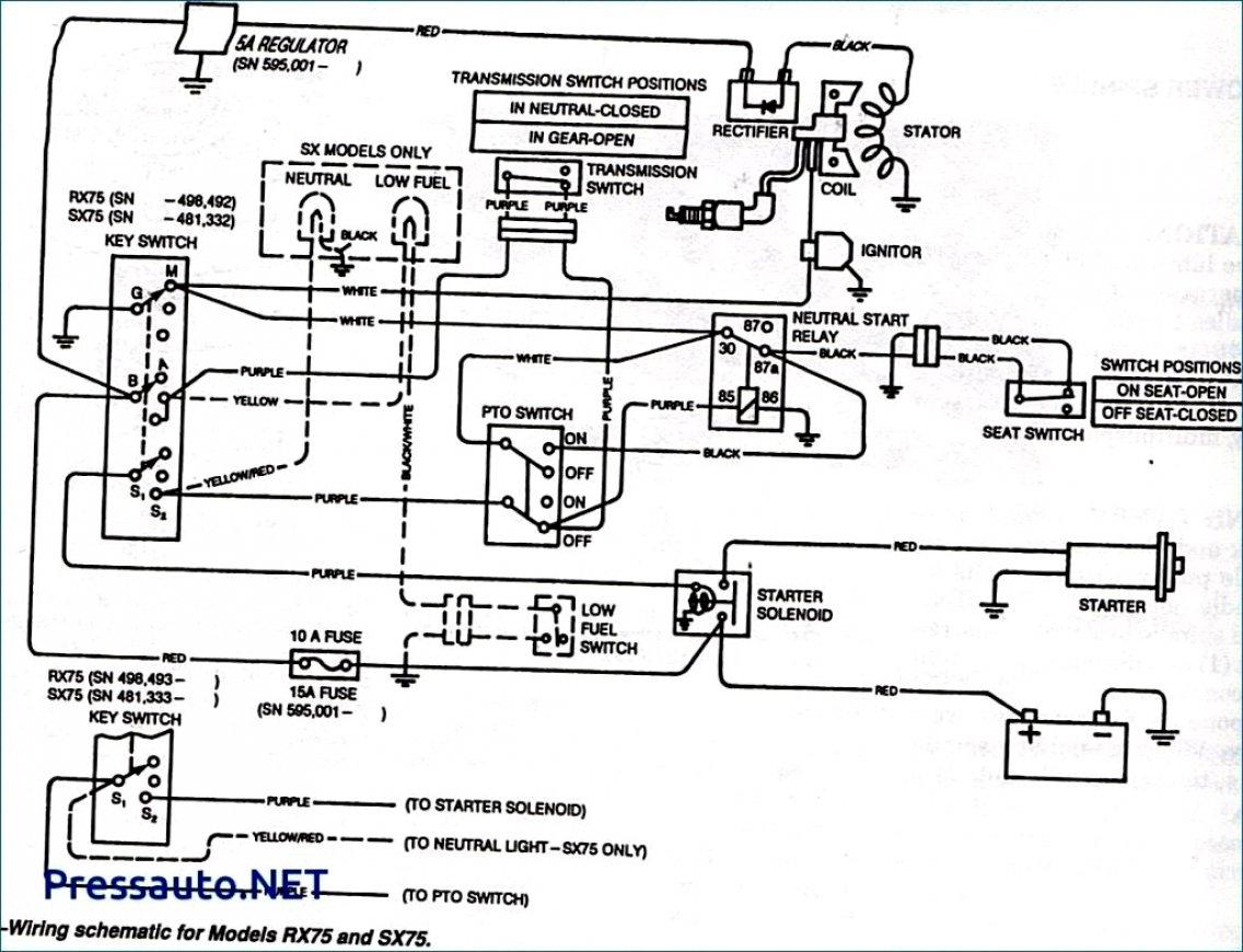 John Deere L110 Wiring Schematic - Wiring Diagram Explained - John Deere Lt133 Wiring Diagram
