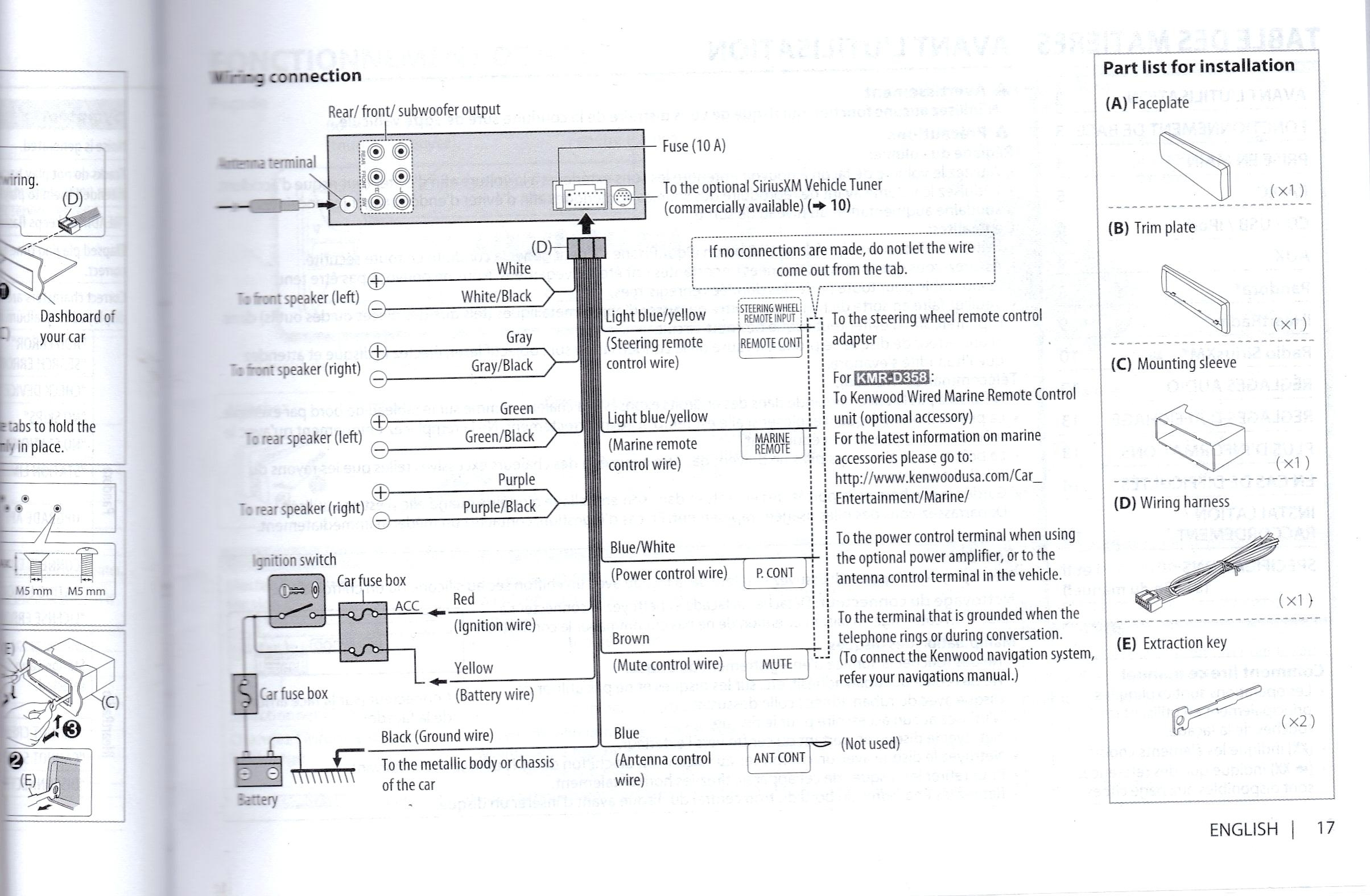 Kenwood Ddx470 Wiring Harness Colors - Wiring Diagram Detailed - Kenwood Radio Wiring Diagram