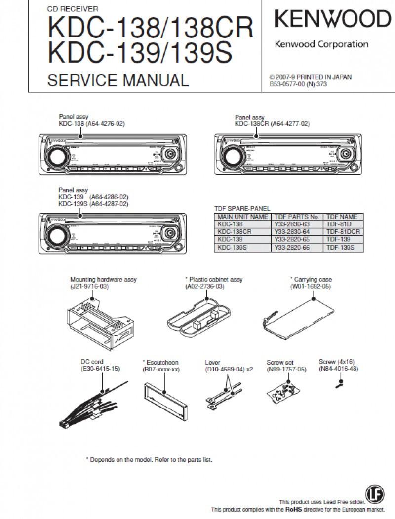Kenwood Kdc 122 Wiring Diagram 138 | Wiring Diagram - Kenwood Kdc 138 Wiring Diagram