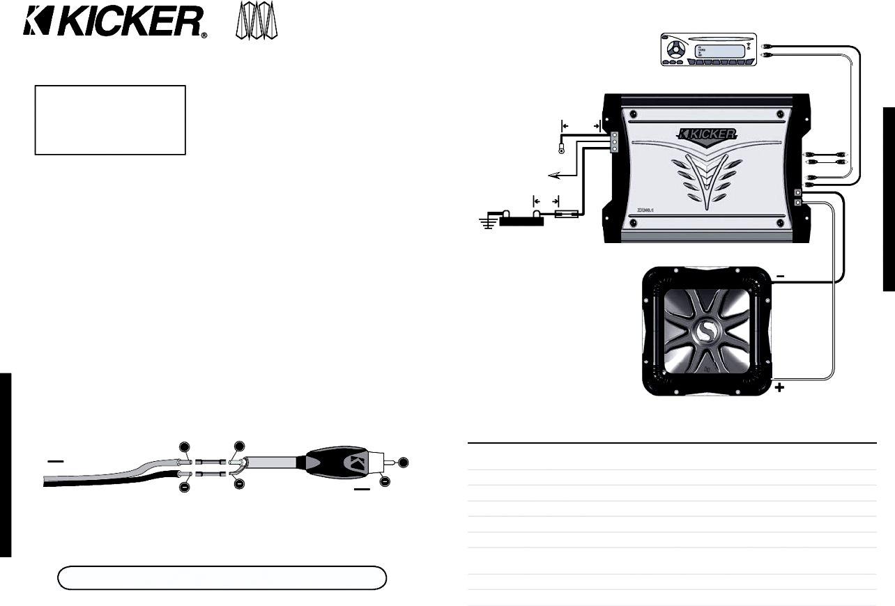 Kicker Amp Wiring Diagram | Manual E-Books - Kicker Amp Wiring Diagram