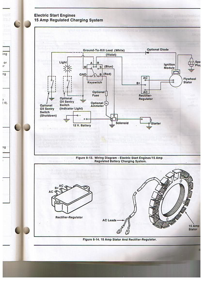 Kohler Engine Electrical Diagram | Re: Voltage Regulator/rectifier - Kohler Voltage Regulator Wiring Diagram