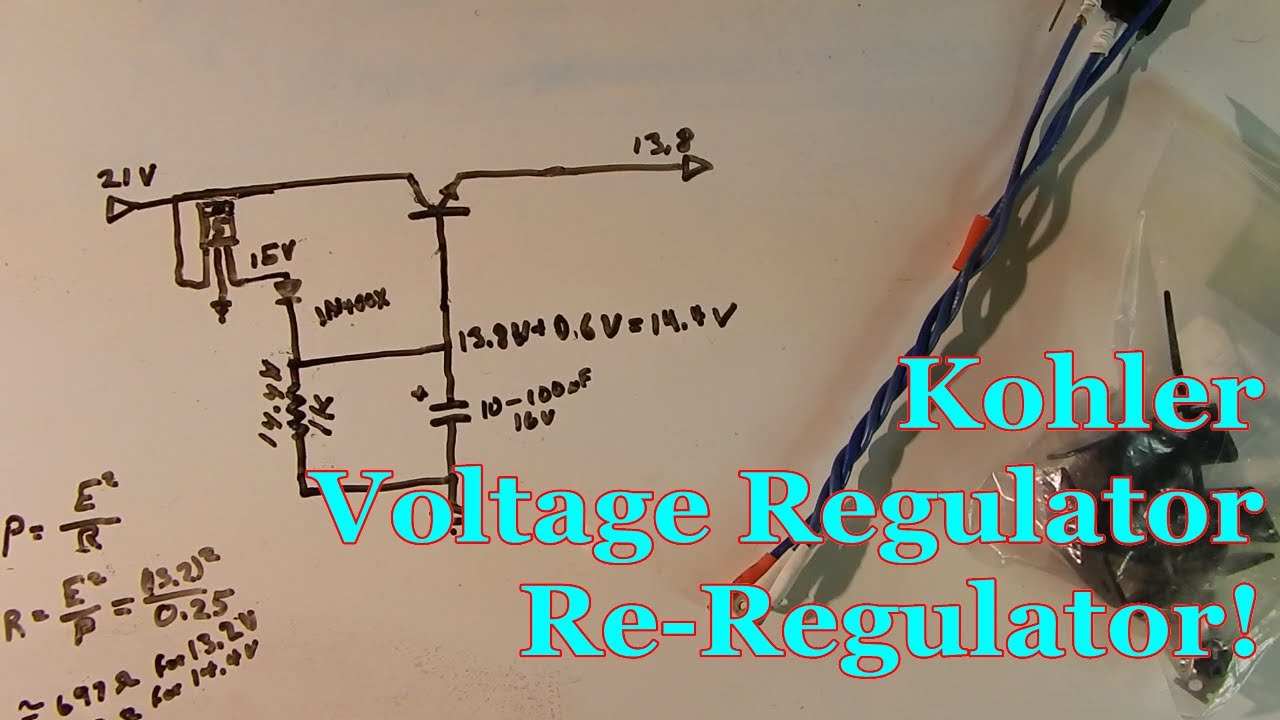 Kohler Voltage Regulator Re-Regulator! - Youtube - Kohler Voltage Regulator Wiring Diagram