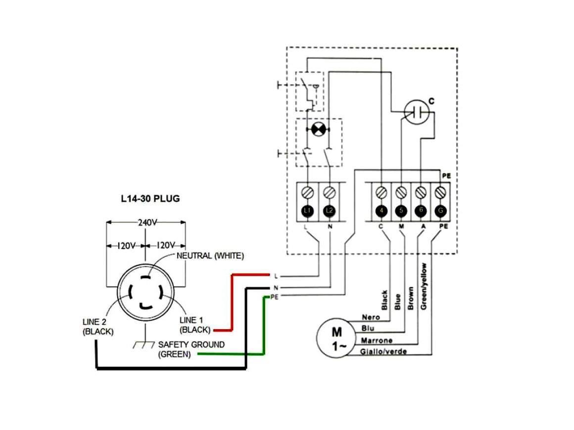 L14 30P Three Wire Diagram | Wiring Diagram - L14-30 Wiring Diagram