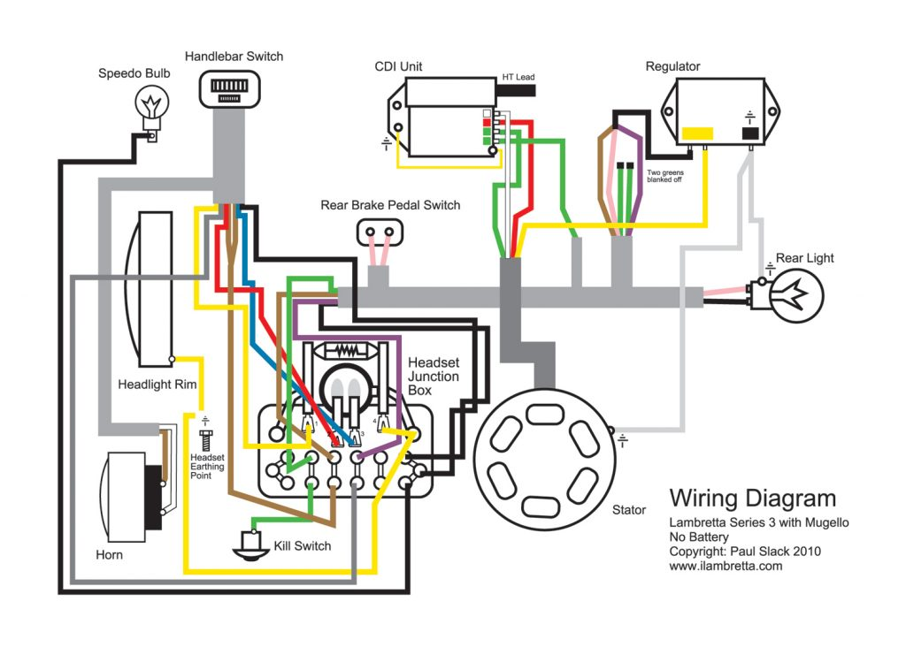 Lambretta Restoration: Wiring Diagram For Mugello 12 Volt Upgrade   12V Wiring Diagram