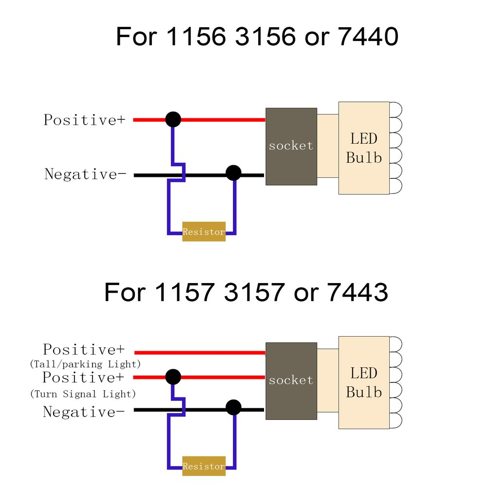 Led Turn Signal Resistor Wiring Diagram | Wiring Library - Led Load Resistor Wiring Diagram