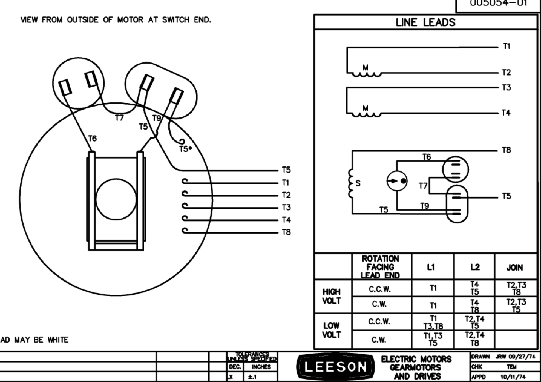 Leeson Motors Wiring Diagram | Manual E-Books - Leeson Electric Motor Wiring Diagram