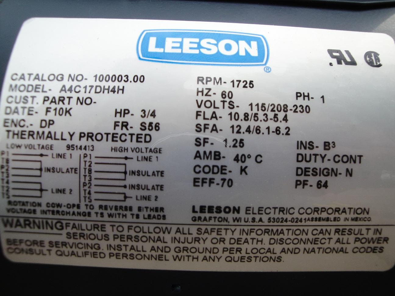 Admirable Leeson Motors Wiring Diagram Manual E Books Leeson Motor Wiring Wiring 101 Olytiaxxcnl