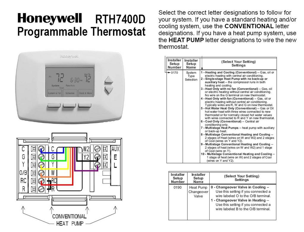 honeywell heat pump thermostat wiring diagram wirings diagram