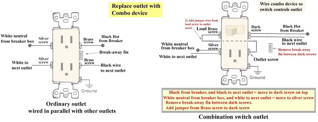 Superb Light Switch To Outlet Wiring Diagram Wirings Diagram Wiring Digital Resources Indicompassionincorg