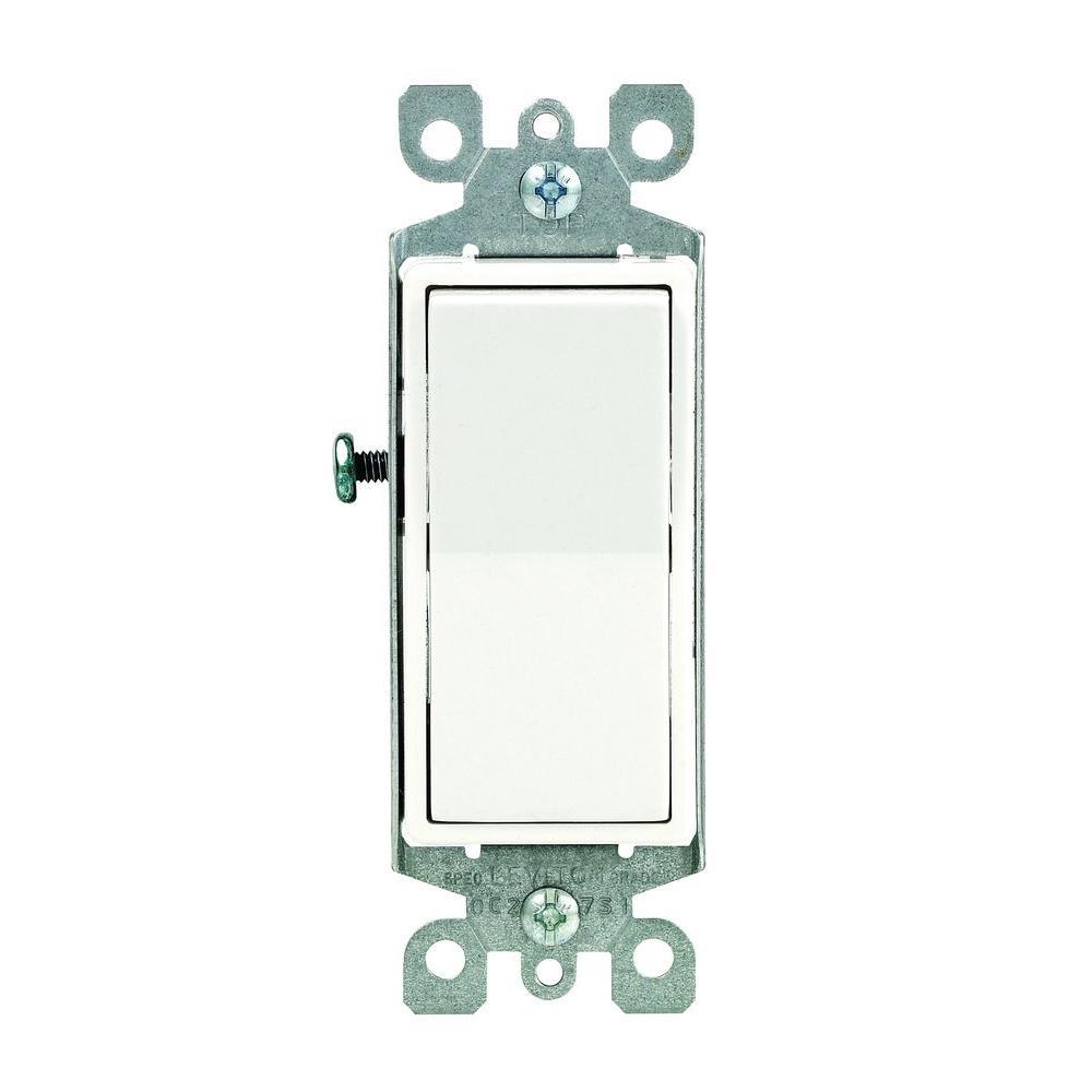 Leviton Decora 15 Amp Illuminated Rocker Switch, Light Almond-R76 - Leviton 3 Way Dimmer Switch Wiring Diagram