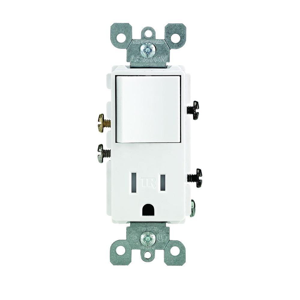 Leviton Decora 15 Amp Tamper Resistant Combo Switch And Outlet - Leviton Combination Switch And Tamper Resistant Outlet Wiring Diagram