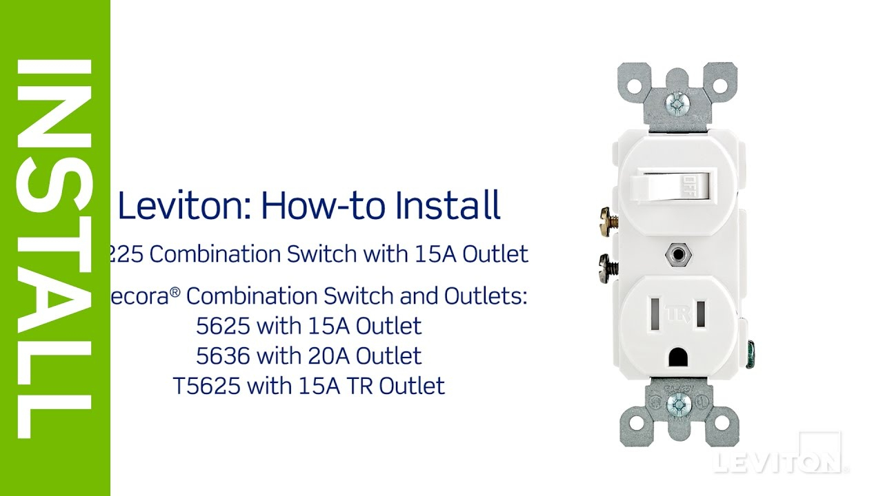 Leviton Presents: How To Install A Combination Device With A Single - Light Switch Outlet Combo Wiring Diagram
