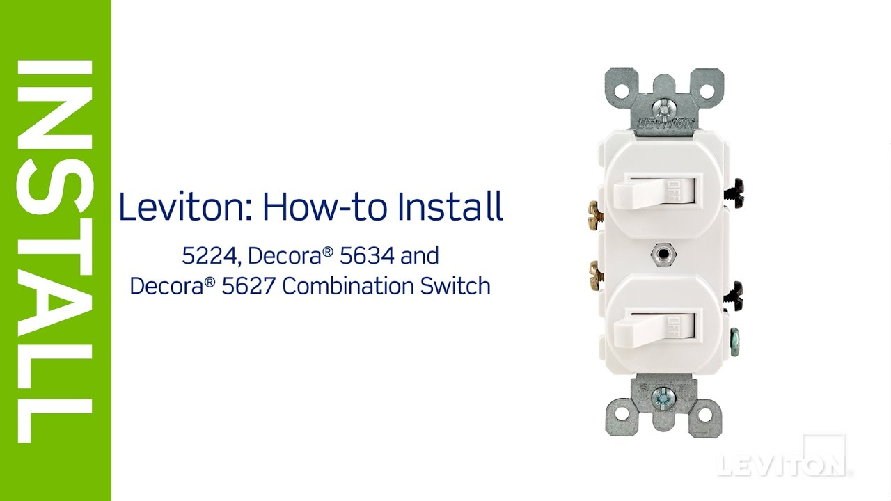 Leviton Presents: How To Install A Combination Device With Two - Leviton Double Switch Wiring Diagram