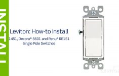 Leviton Presents: How To Install A Single Pole Switch   Youtube   Single Pole Light Switch Wiring Diagram