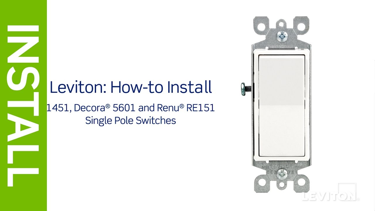 Leviton Presents: How To Install A Single Pole Switch - Youtube - Single Pole Light Switch Wiring Diagram