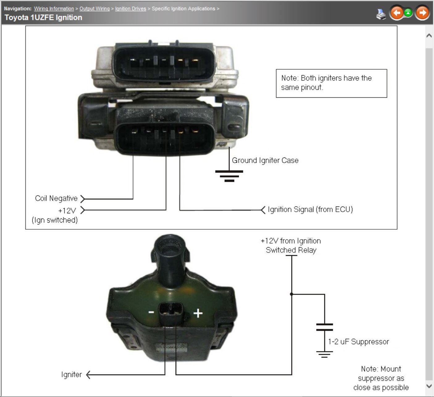 Lexus 1Uzfe Help - G4 - Link Engine Management - Toyota Igniter Wiring Diagram