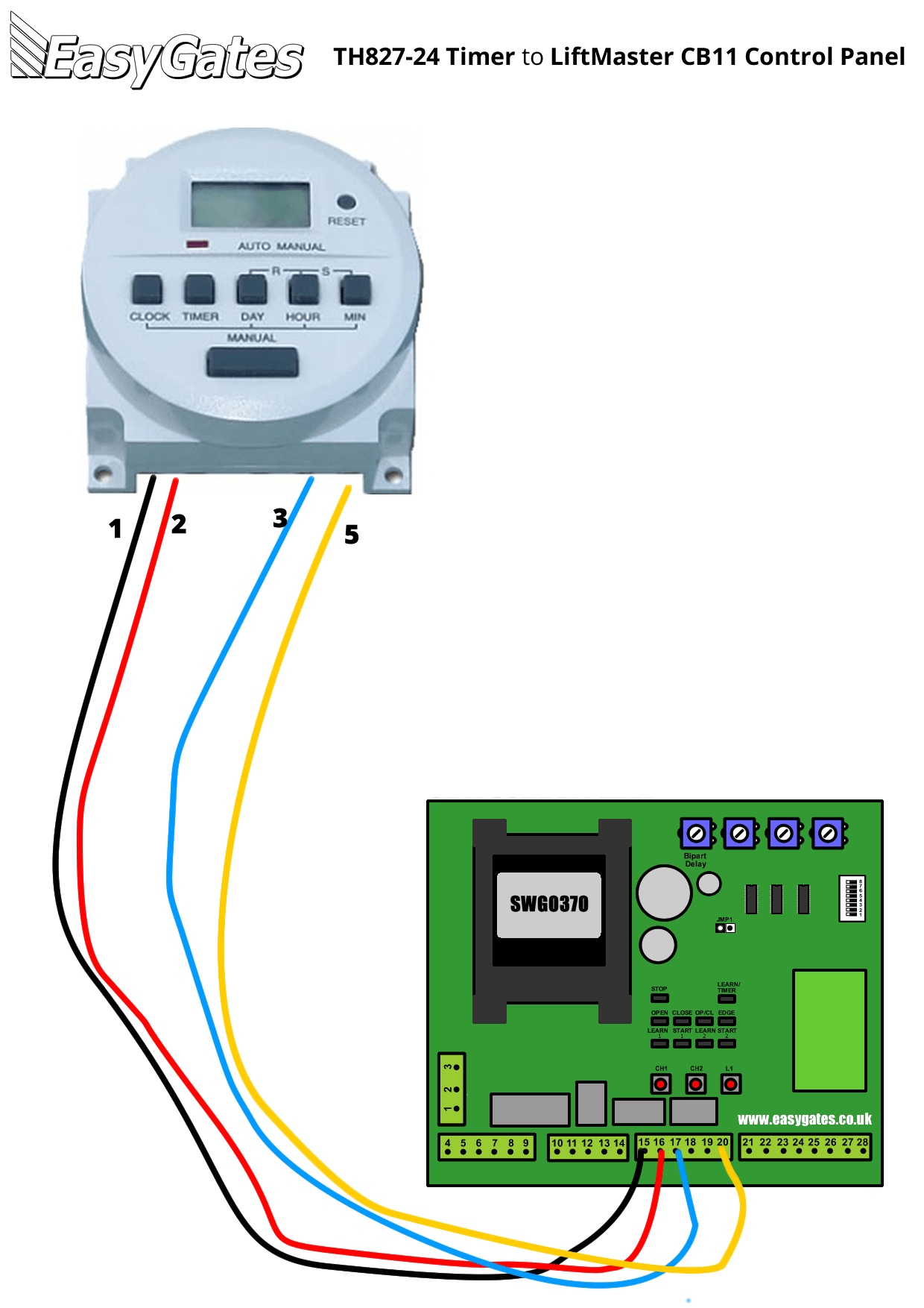 Liftmaster Wiring Diagram Sensors | Manual E-Books - Liftmaster Garage Door Opener Wiring Diagram