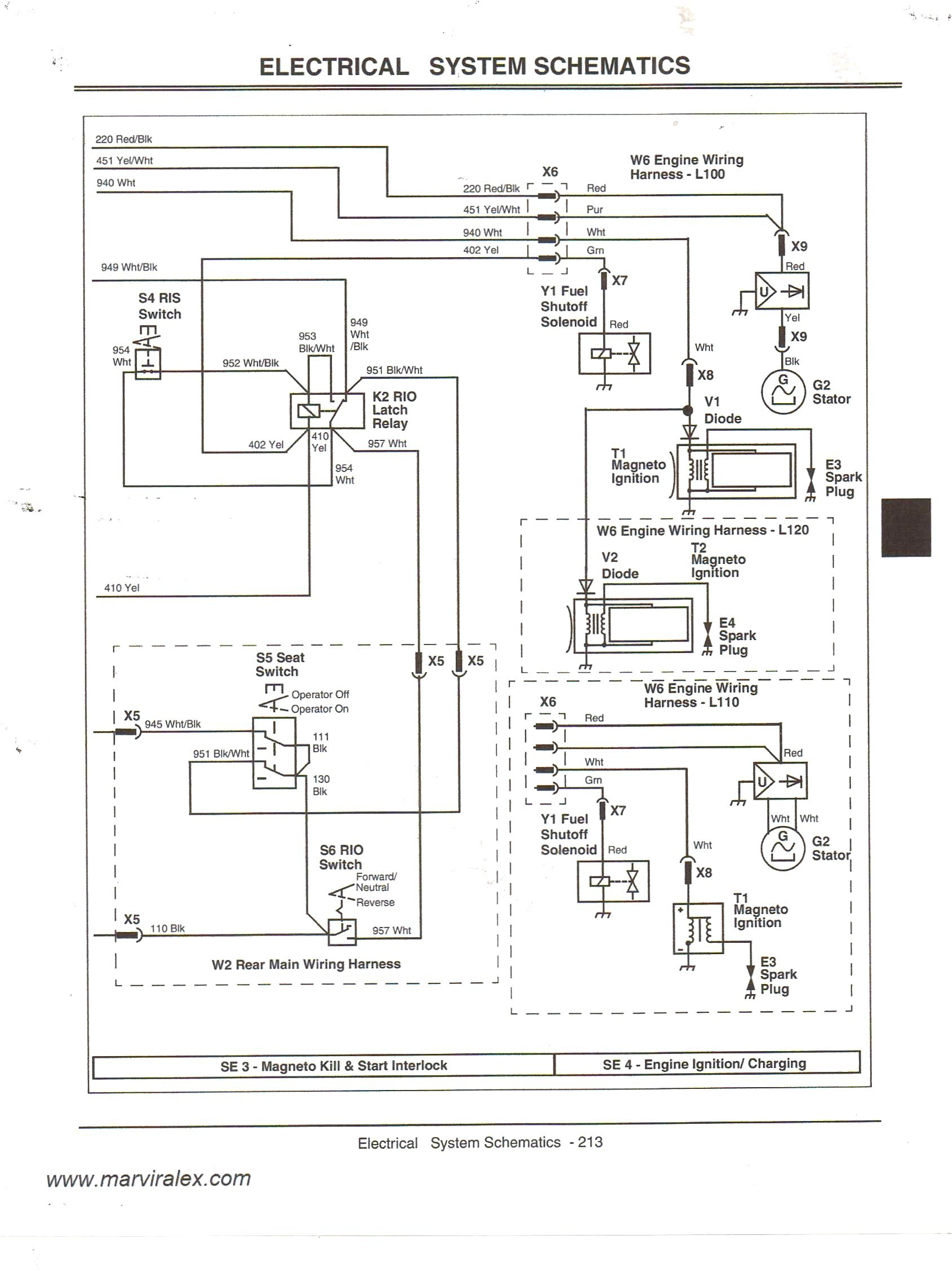 Lt155 Wiring Schematic | Manual E-Books - John Deere Lt155 Wiring Diagram