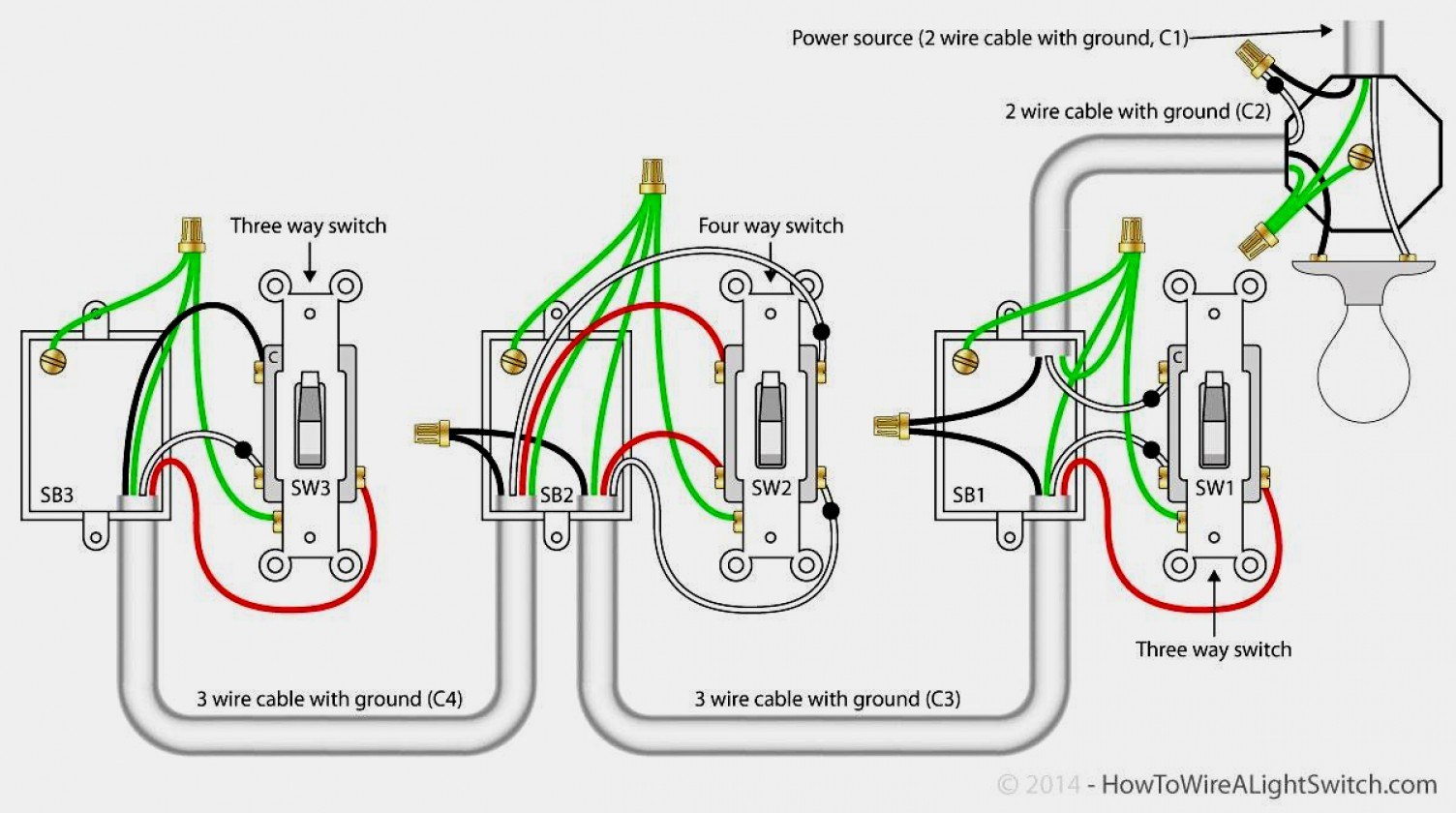 Lutron 4 Way Dimmer Wiring Diagram | Manual E-Books - 4 Way Wiring Diagram