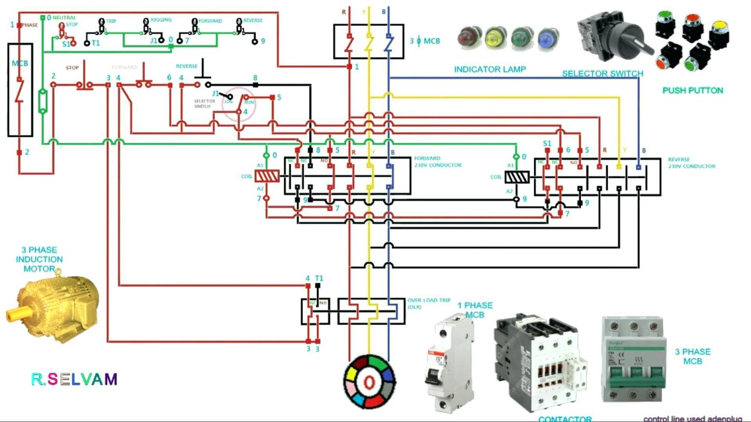 Luxury 3 Phase Contactor Wiring Diagram Start Stop - Wiring Diagram - 3 Phase Contactor Wiring Diagram Start Stop