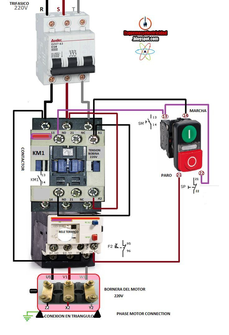 Magnetic Contactor Wiring Diagram - Data Wiring Diagram Schematic - Contactor Wiring Diagram