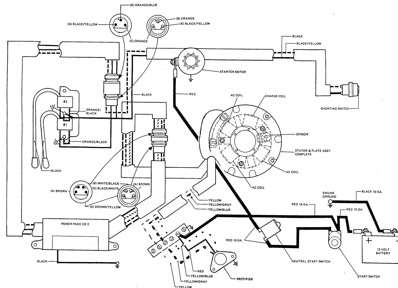 Maintaining Johnson 9.9 Troubleshooting - Yamaha Outboard Ignition Switch Wiring Diagram