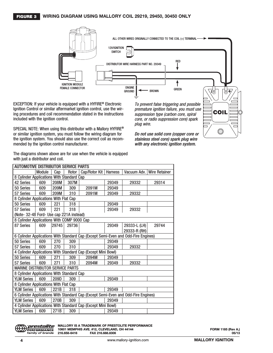Mallory Magnetic Breakerless Wiring Diagram | Manual E-Books - Mallory Magnetic Breakerless Distributor Wiring Diagram