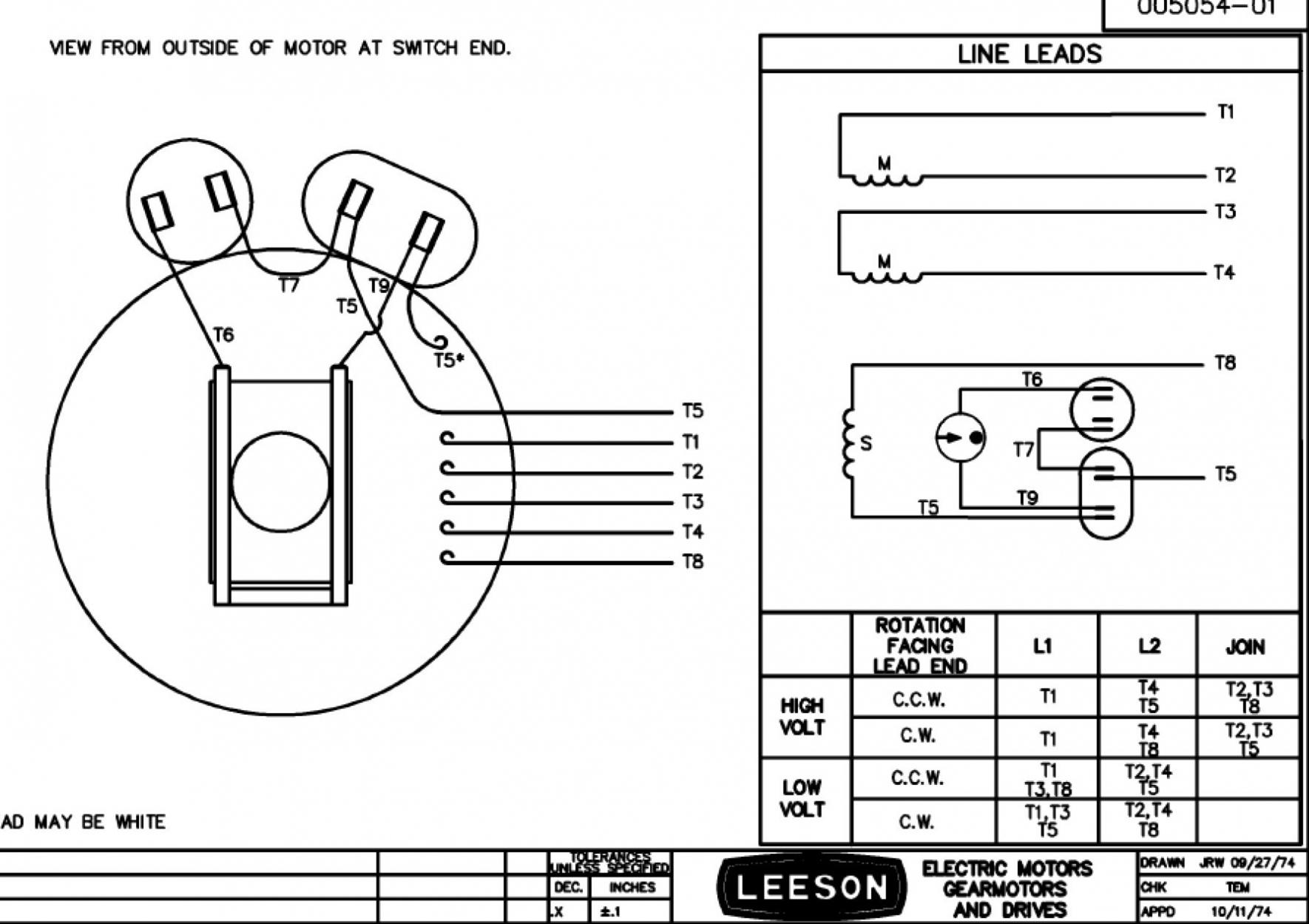 Marathon Motors Wiring Diagrams | Manual E-Books - Single Phase Marathon Motor Wiring Diagram